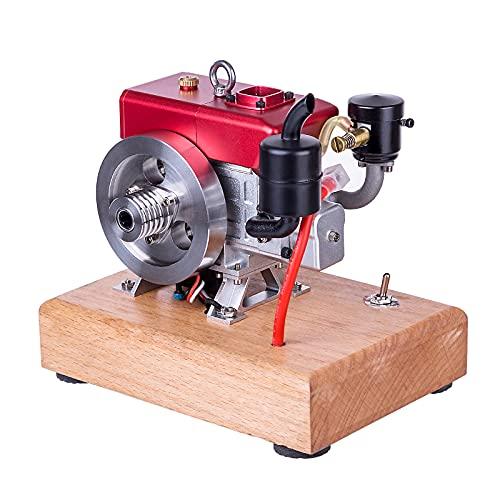 Morton3654Mam L100 - Motor de gasolina monocilíndrico de 4 tiempos, motor Stirling, modelo de motor de combustión de 3,5 cc
