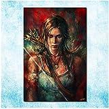 sjkkad Tomb Raider Lara Croft Kunst Leinwand Poster Drucken