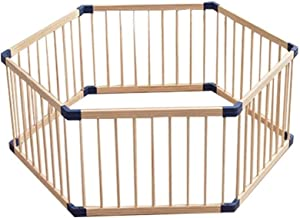 Pieces Baby Furniture Game Foldable Fence 40cm Long Children s Natural Wooden Grid Crawling Walking Protective Fence