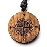 Treeforce Kompass Halskette   Schmuck aus Kupfereiche