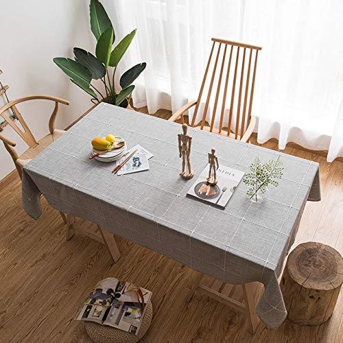 HJCC Mantel Decoración Navideña Mantel Decoración Moderna Mantel De Mesa De Café Mantel Bordado De Algodón para Cocina Comedor,100 * 135cm