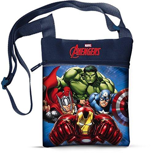 Star Marvel Avengers - Borsa e borsetta stampata su spalla quadrata, 16,5 x 21 cm