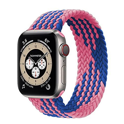 Solo lazo trenzado para Apple watch band 44mm 40mm 38mm 42mm FABRIC Nylon cinturón elástico pulsera iWatch series 3 4 5 se 6 correa