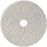 3M Natural Blend White Pad 3300, 17 in, 5/Case