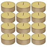 Lumabase 30212 Extra Large Citronella Tea Light Candles (12 Count), White