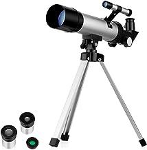 HEZHANG Stargazing Travel Telescope for Adults,Telescope Astronomy Beginners 70Mm Aperture Refractor Telescopes,Finder Scope Portable Telescope