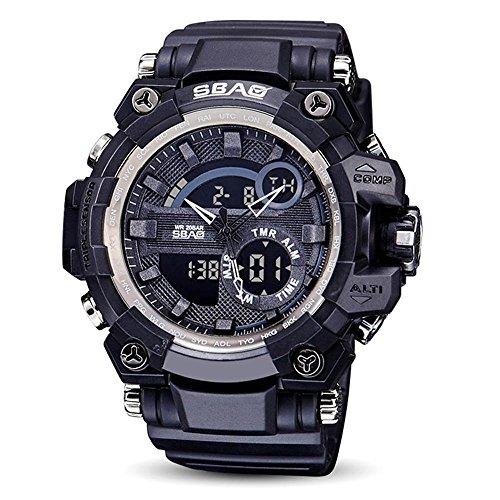 HWCOO SBAO Orologi Gli sport guardano i nuovi uomini elettronici della vigilanza impermeabilizzano l'orologio del quarzo delle signore della vigilanza (Color : 5)