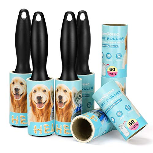 480 Sheet Extra Sticky Lint Roller - Pet Hair Remover for Clothes - 4 Handles + 8 Refills Pack… (4 Handles + 8 Refills(New))