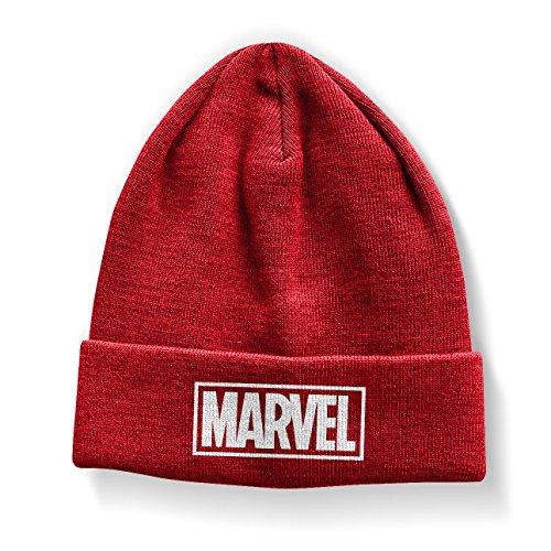 Officiellement Marchandises sous Licence Marvel Rouge Logo Bonnet (Rouge)