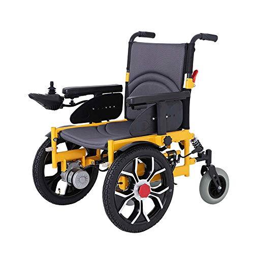 Huizz Silla de Ruedas eléctrica, Silla de Ruedas para discapacitados Silla de Ruedas para Personas Mayores Silla de Ruedas Plegable (batería de Litio 20A)