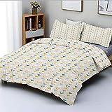 Juego de funda nórdica, formas geométricas grunge con clase de patrón tradicional de inspiraciones vintageic Juego de cama decorativo decorativo de 3 piezas con 2 fundas de almohada, multicolor, mejor