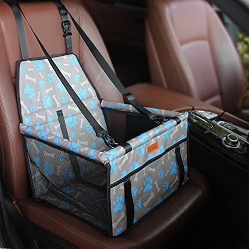 BYGD Siège d'appoint pour Chien avec Tige de Support de nivellement, siège d'auto pour Chien adapté aux Animaux de Petite et Moyenne Taille (Bleu)