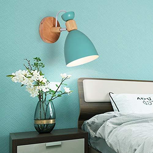 QEGY Lampara Pared Infantil Nordico, LED Bañadores de pared Ajustable Moderna, Apliques Interior Pared con E27 Socket, para Habitación de Niños Dormitorio Lampara de Lectura, 3000k