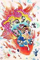 大人のためのdiyパズル5000ピース日本の女の子と魚抽象的な壁アート結婚式の装飾楽しいゲーム子供と大人のための教育玩具105 * 181cm