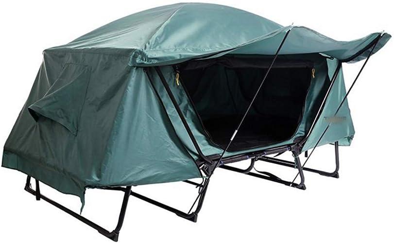 Limeinimukete Multifonctionnel Lit Simple Tente Imperméable à l'eau Froide en Plein Air Loisirs Pliant Voiture De Pêche Top Tentes Au Sol (Couleur   vert, Taille   1P)
