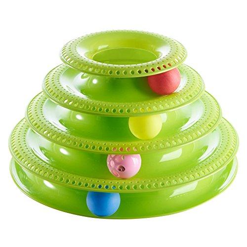 Reefa Jouet pour Chat/Jeux Intelligence Réflexion/Labyrinthe avec Balles pour Chat et Chaton en Plastique-4 Couches