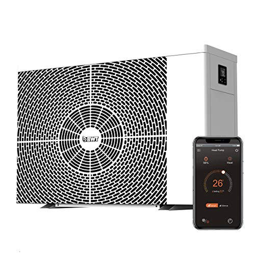 BWT Inverter Horizontal Wärmepumpe HI-HC 106 | 10,6 kW Heizleistung bis zu 45 m³ Schwimmbadvolumen | Effiziente, langlebige & leise Wärmepumpe zum Beheizen und Kühlen