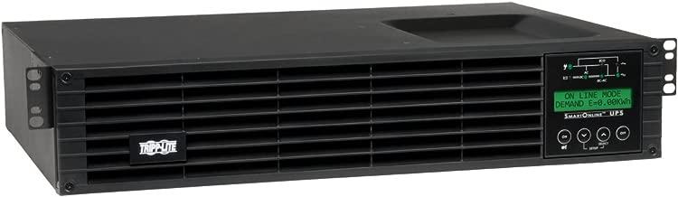 Tripp Lite 1500VA Smart Online UPS Back Up, 1300W Double-Conversion, Extended Run Option, 2U Rackmount, LCD, USB, DB9, 2 Year Warranty & $250,000 Insurance (SU1500RTXLCD2U)