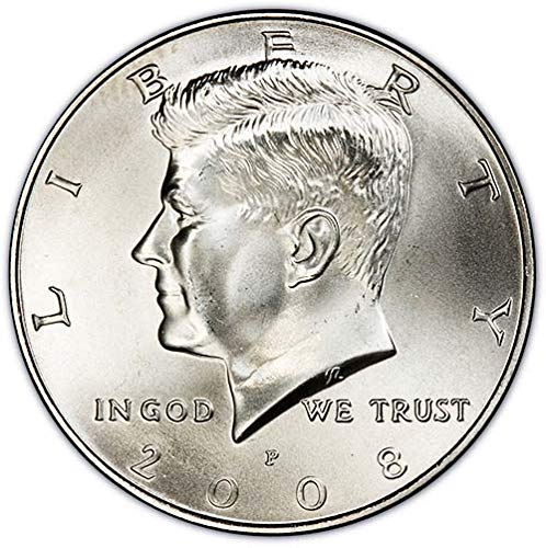2008 P & D Satin Finish Kennedy Half Dollar Choice Uncirculated US Mint 2 Coin Set