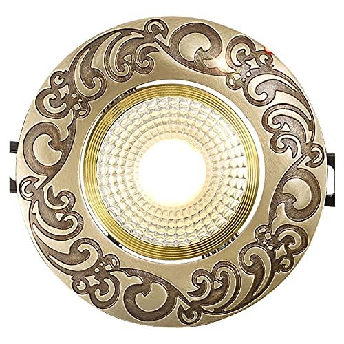 SHXITAYNB Ojos De Buey Led para Techo Downlight Led Techo Foco Empotrable, COB 3W 7W Cálido Luz Concentrada Downlight Luz LED Puntual para Cocina Pasillo Sala,A Warm,3W COB
