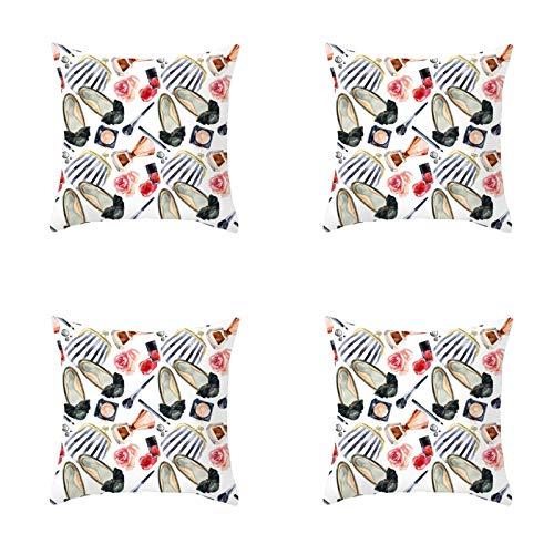 45 x 45 cm cuscino decorativo a forma di labbro 45 x 45 cm federa cuscino divano 4 pezzi set