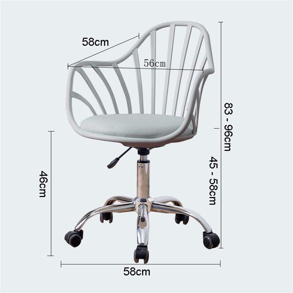 LWW Chaises, Chaise de bureau haut de gamme bureau de travail pivotant Fauteuil de bureau exécutif Faux cuir Accueil Étude moderne salon ergonomique rembourré,blanc Blanc