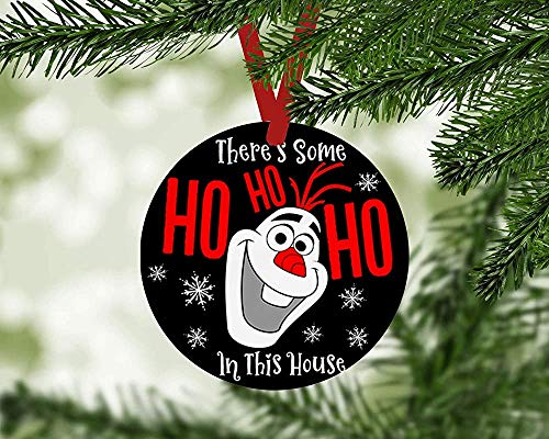 Fr75en There's Some Ho Ho Ho in This House Olaf Christmas Ornaments Porcelain Christmas Tree Decoration Keepsake Gifts