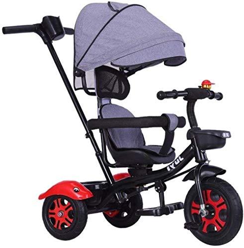 Poppenwagen kinderschommel trikes Kids'Trike & kinderwagen Trike driewielers voor kinderen 2-6 Tricycle Trike kinderwagen voor kinderen met verstelbare zitting met baldakijn duwstang babyartikel