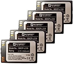 Synergy Digital Cordless Phone Batteries - Replacement for Avaya 3641, 3645 Cordless Phone Batteries (Set of 5)