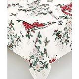 Lenox Butterfly Meadow Poinsettia 84' Oblong Tablecloth