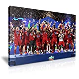 Liverpool 2019 Champions Football Kunstdruck, 76 x 50 cm