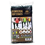 "Holiday Joy - 50 Universal Light Lawn Stakes for Holiday String Lights on Yards, Driveways & Pathways - 8.5"" Tall - New and Improved Model (50 Pack)"