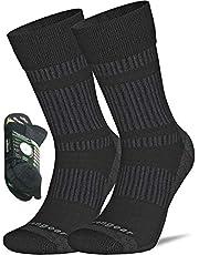 Coolmax Merino wollen sokken voor heren en dames - Wandelen - Trekking - Trail wandelen - Naadloze teen - Gedempt - Ademend en zacht