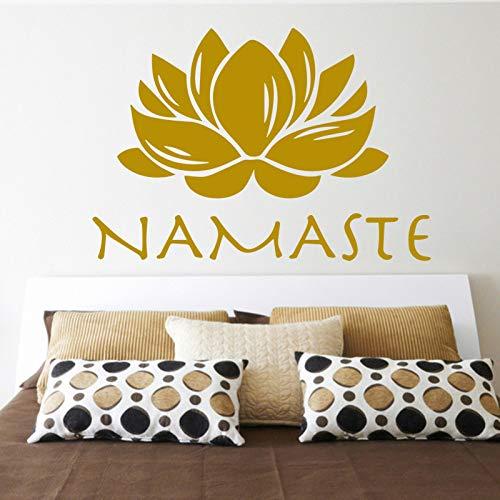 Buddhismus Lotus Wandaufkleber abnehmbare kreative PVC Wandaufkleber für zu Hause Wohnzimmer dekorativ weiß XL 58 cm x 84 cm