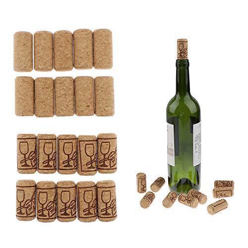 YJDLC Corcho 10 unids/Set Soportes de Vino Tapones de Madera Recta tapón de Botella de Botella Herramientas de Barra de Cocina Accesorios de Cocina Gadgets Botella de Vino sellada (Color : B)