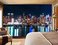 YCRY-壁紙アメリカの超高層ビルの川のフルキッズ3D -壁の装飾-ポスター画像写真-HD印刷-現代の装飾-壁画-200x140cm