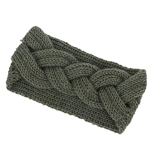 Beonzale Kopfband Haarband Elastisch Weich Verdreht Stirnband Kopfbedeckung für Alltag Yoga Sport Frauen Strickstirnbänder Winter Warm Head Wrap Wide Haarschmuck
