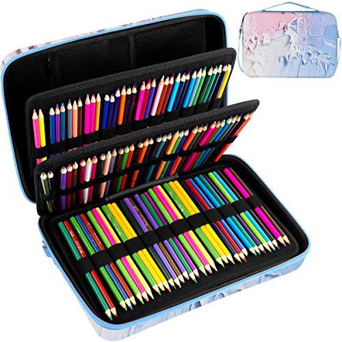 Large Pencil Storage Case - Holds 240+ Colored Pencils, Pencil Bag Compatible with Prismacolor Colored Pencils, Watercolor Pencils, Faber Castell Colored Pencils, ARTEZA Colored Pencils Set(Box Only)