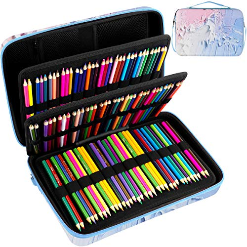 Large Pencil Storage Case - Holds 240+ Colored Pencils, Pencil Bag Compatible with Prismacolor Colored Pencils, Watercolor Pencils, Faber Castell Colored Pencils, ARTEZA Colored Pencils Set(Box Only)