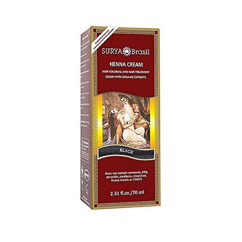 Surya Brasil: Natural Henna Cream, Black 2.31 oz (2 pack)