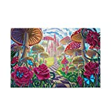 Rompecabezas de 1000 piezas de seta de castillo de rosas para juegos de arte para adultos, adolescentes y niños 2030516