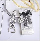 baiou Creativo Bomboniere Nozze Apribottiglie Chiave/Aereo/Amore/Fiocco di Neve/Angelo/Pantofola/Ancora Apribottiglie per Bomboniere Interessante Regalo Souvenir (Musical Note, 60)