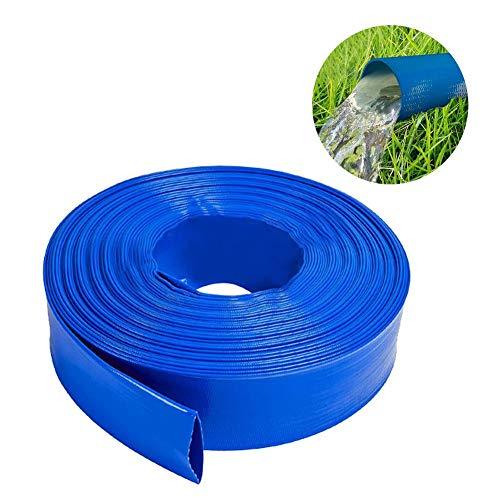Manguera de retrolavado plana de PVC azul de 2