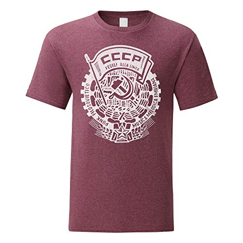 Tshirt noir homme manches courtes Fruit Of The Loom CCCP urss