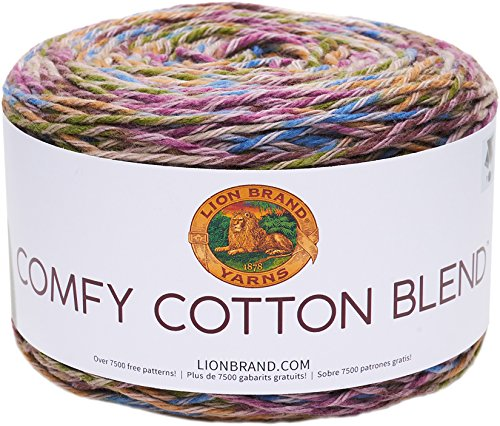 Lion Brand Yarn 756-704 Comfy Cotton Blend Yarn, Stained Glass