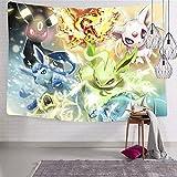835 E-ev-ee - Manta suave para colgar en la pared para sala de estar, decoración de dormitorio, 123 x 222 cm