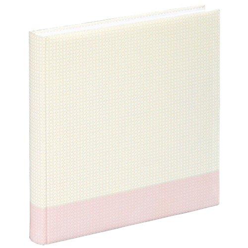 Hama Fotoalbum Filigrana, Jumbo Album mit 80 weißen Seiten, für 320 Fotos im Format 10x15, Albenformat 30x30, XXL Fotobuch pastell-rosa