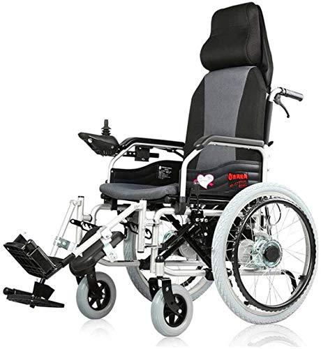 Silla de Ruedas eléctrica, Silla de ruedas eléctrica de ancianos discapacitados de coches de edad avanzada inteligente completa mentira de cuatro ruedas Scooter Scooter automático portátil multifuncio