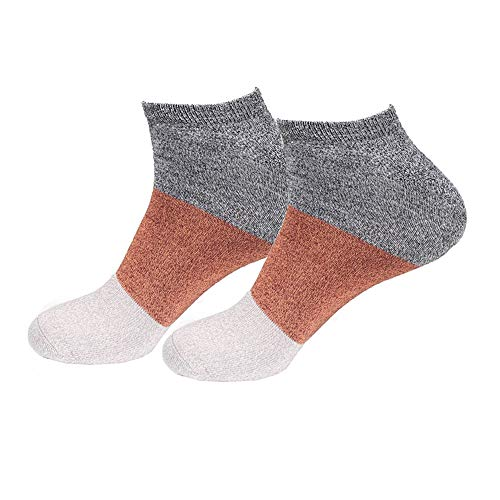 Men's Rayon from Bamboo Fiber Colored Sports Superior Wicking Athletic Ankle Socks - Black Red...