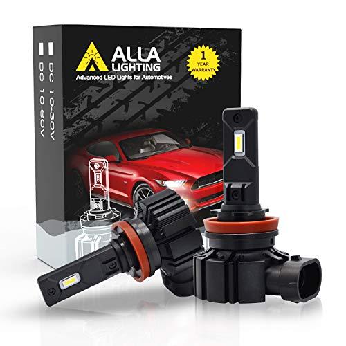 Alla Lighting PGJ19 Base H16 H8 H11 LED Bulbs, Fog Lights/DRL Replacement Bulbs 6000LMs Xtreme Super Bright Adjustable, 6000K Xenon White